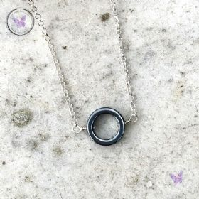 Hematite Circle Necklace
